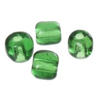 100 gms x  (6/0) Dark Green Glass Seed Beads ,4x3mm,Hole:Approx 1mm